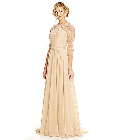 Dillards Dresses Wedding New Lasting Moments Embellished Chiffon Gown Dillards