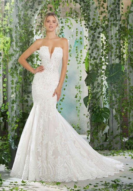 mori lee angelina faccenda 1723 pellagia strapless wedding dress 01 578
