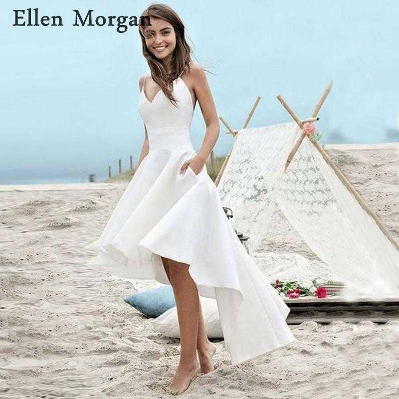 discount summer beach bohemia hi lo wedding dresses 2019 y v neck new of wedding dresses affordable designers of wedding dresses affordable designers