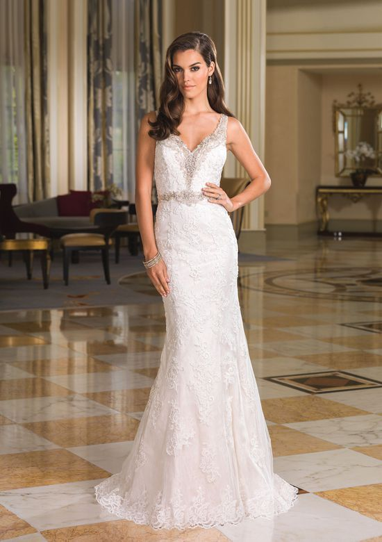 Dress Back Inspirational Style 8853 Lace and Beaded Illusion Back Wedding Dress