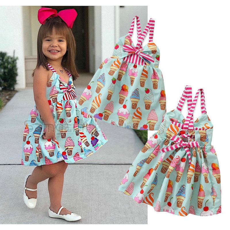 Dress Designer Names Elegant 2019 Summer Dress for Kids Clothes Hot Sale Sling Printed Princess Dress Fashion Cute Children Dress Sleeveless toddler Dresses From Arraywu $9 55