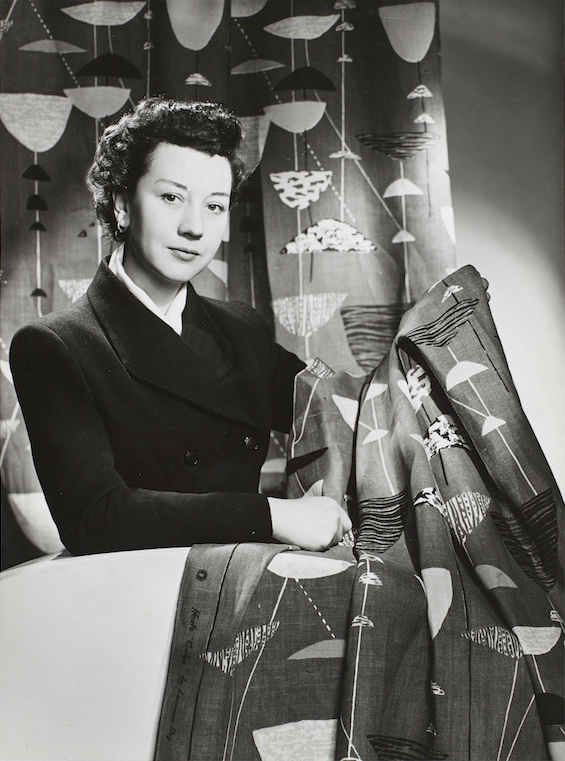 Lucienne Day in New York with Calyx % 1952