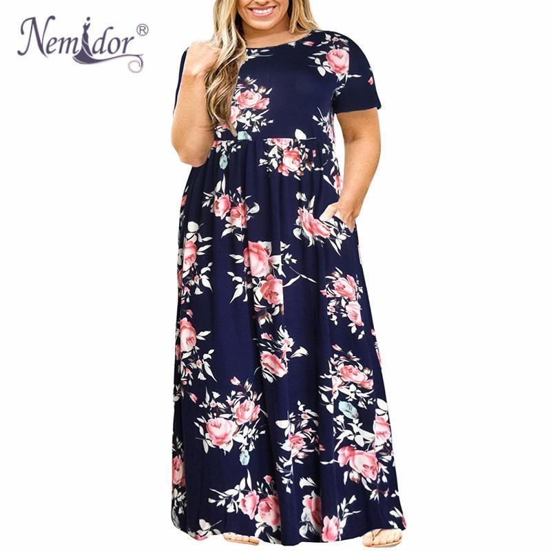 nemidor 2019 hot sales women o neck long