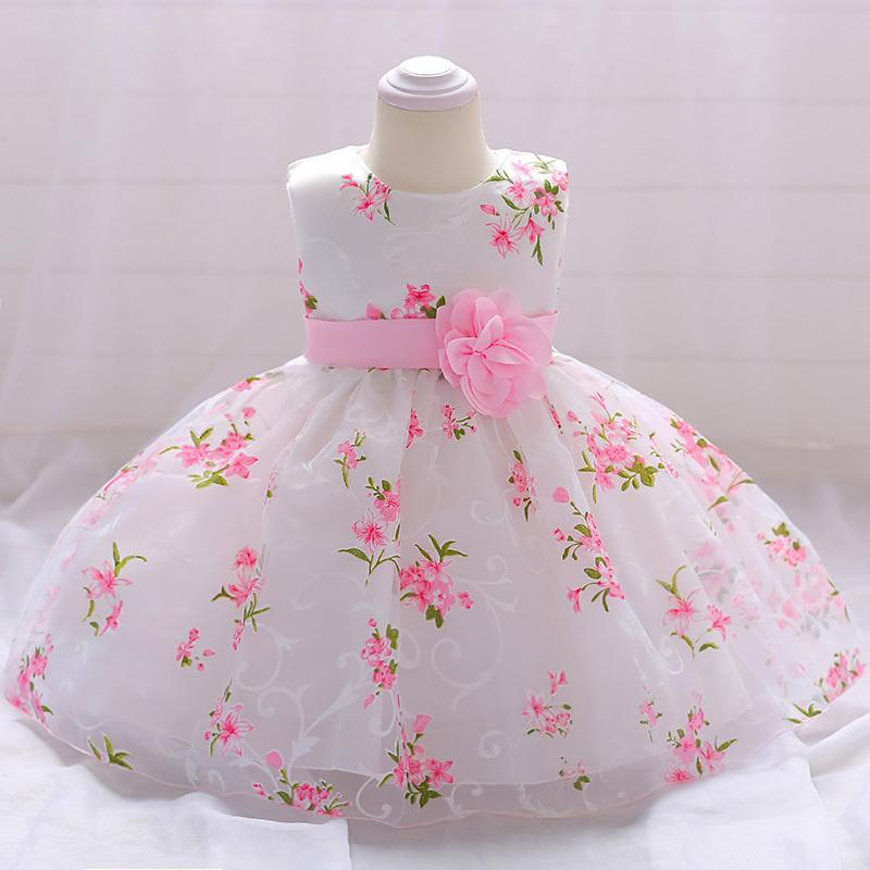 2019 baby girl clothes summer baptism dress