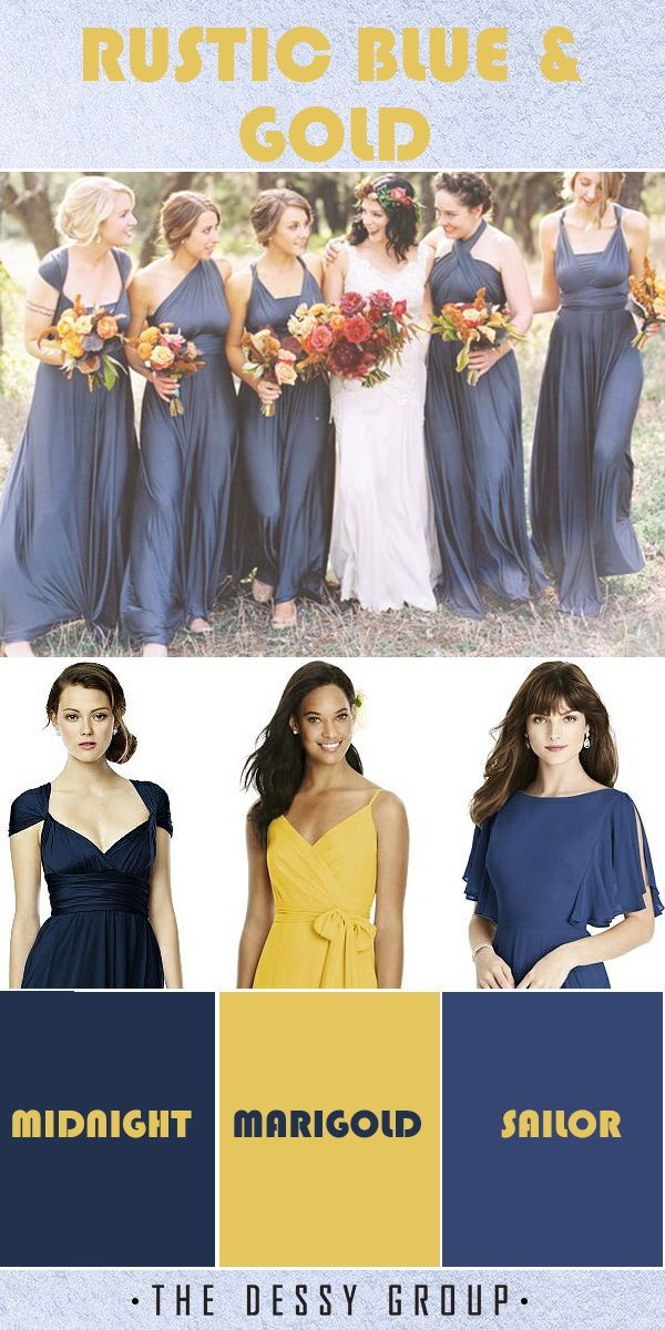 Dresses for Fall Wedding Best Of Rustic Blue and Gold Wedding Inspiration Featuring the Dessy