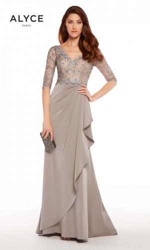 alyce paris v neck formal gown 01 252