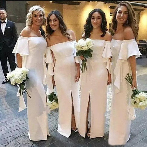 Dresses for Outdoor Wedding Guests Beautiful 2019 White Ivory Bridesmaid Dress Western Summer Country Garden formal Wedding Party Guest Maid Honor Gown Plus Size Custom Made Dresses Line