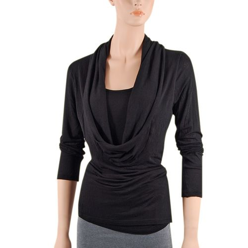 Dresses for Small Chest Beautiful Cowl Neck Shirts are Absolutely Fabulous for Giving Curve to