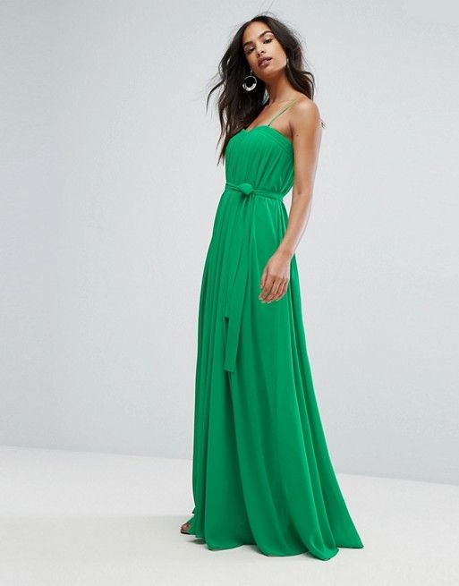 green dress for wedding guest awesome bariano column pleated maxi dress
