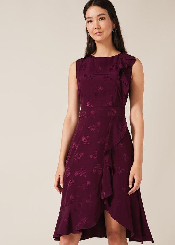 01 reese jacquard frill dress