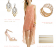 Dresses to attend A Beach Wedding Unique Coral and Gold Dress for A Cocktail Hour Wedding Reception