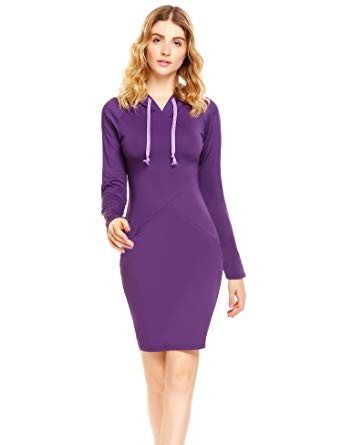 purple dresses to wear to a wedding od lover women s knee length slim plaid tunic pullover sweatshirts popular