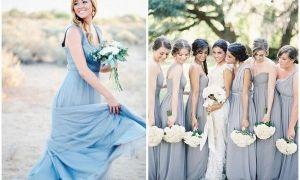 21 Inspirational Dusty Blue Wedding Dresses