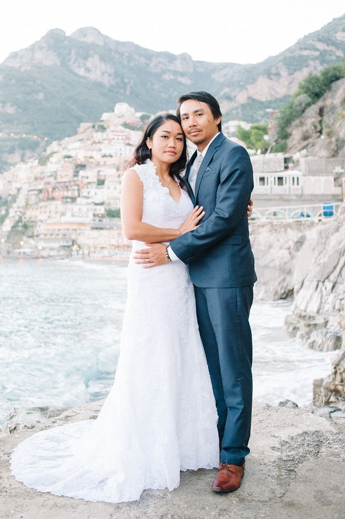 Elopement Wedding Dress Awesome Breathtakingly Romantic Positano Elopement Her Alfred Angelo