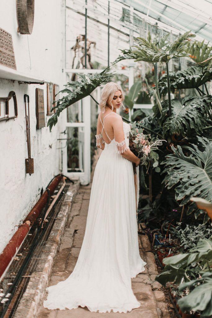 Elopement Wedding Dress Luxury Shikoba Bride Modern Boho Wedding Dresses