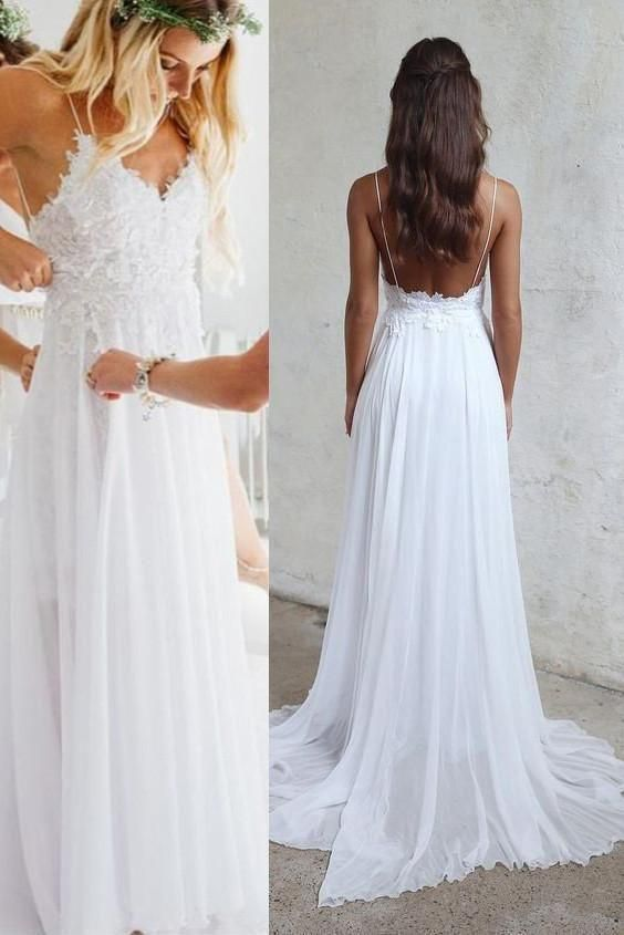 Elopement Wedding Dress New Y Backless Unique Casual Cheap Beach Wedding Dresses