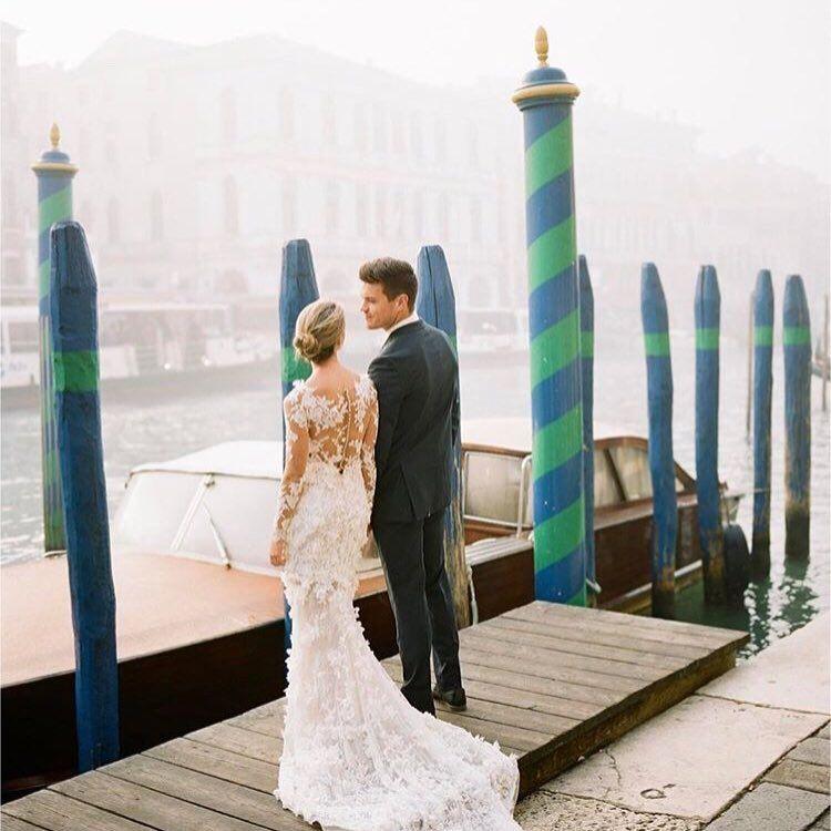 Elopement Wedding Dress Unique Romantic Wedding Dress Idea Flowing A Line Gown with