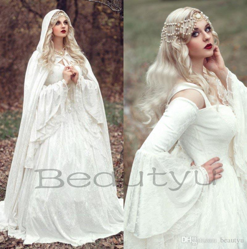 me val wedding gowns beautiful renaissance gothic lace ball gown wedding dresses with cloak 2017