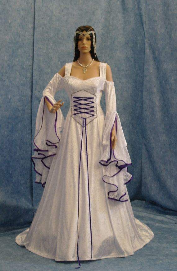 renaissance wedding dress me val bridal gown handfasting dress elven dress wedding dress custom made