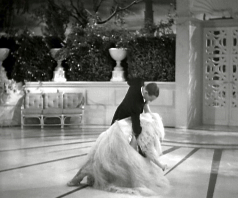 Top Hat Ostrich Feather Dress Ginger Rogers Fred Astaire Final Backbend