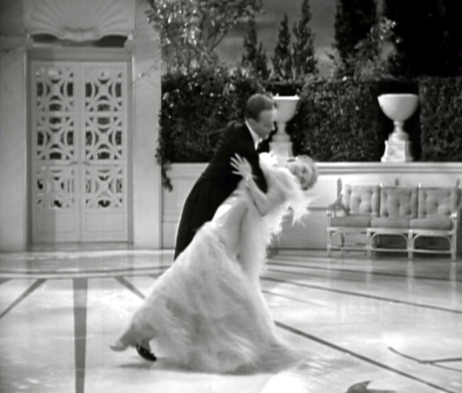 Top Hat Ostrich Feather Dress Ginger Rogers Fred Astaire Backbend 1