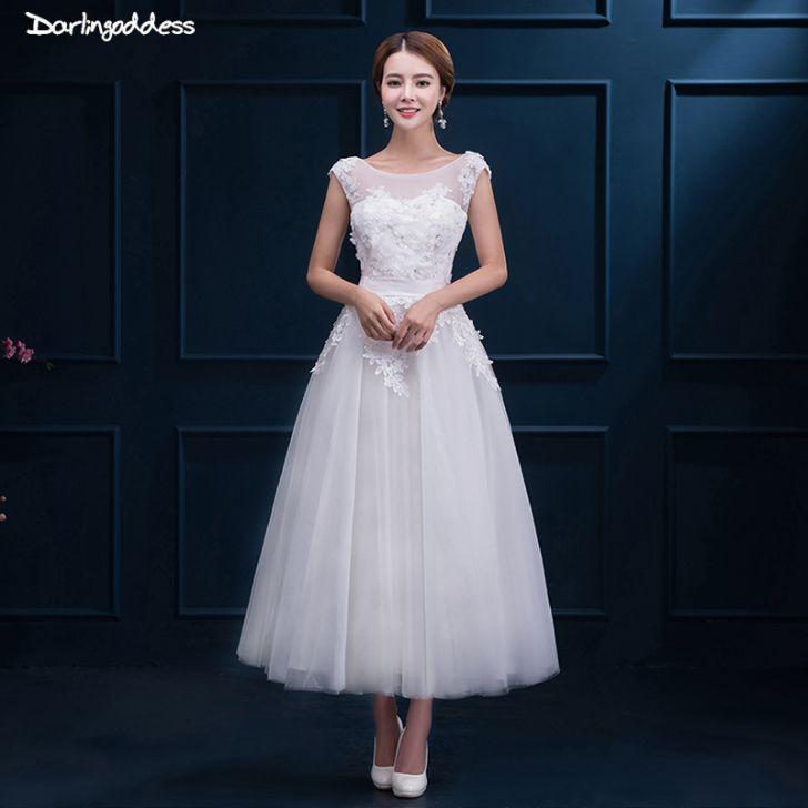 empire waist wedding dress design including kupuj line wyprzedaowe vintage tea length wedding dress od wedding 728x728