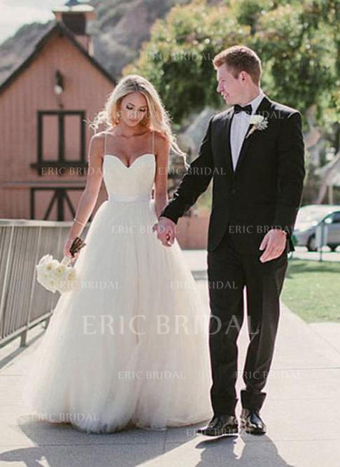 Eric Wedding Dresses Elegant A Line Princess Sweetheart Sweep Train Wedding Dresses with Sash