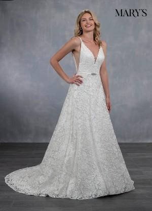 marys bridal mb3057 open v back wedding dress 01 546