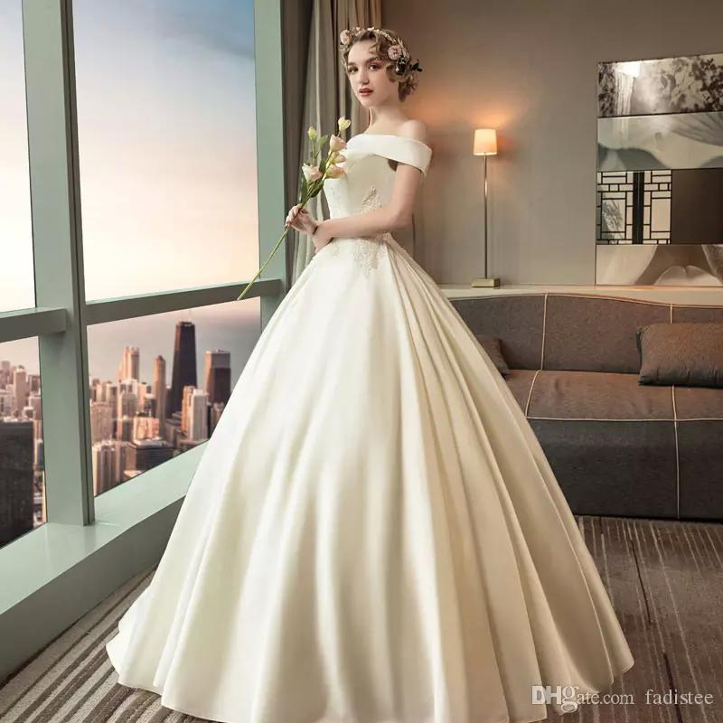 wedding dresses country lace bateau neck