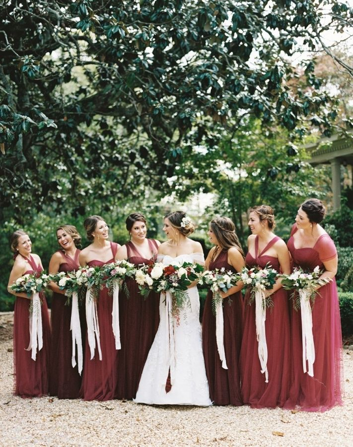 Fall Wedding Colors Bridesmaid Dresses Elegant A Red Green Color Palette Done Right