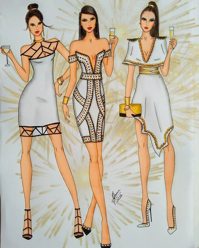 Fashion Figure Dresses Elegant Pin On Fashion Art