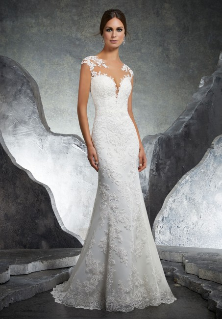 mori lee 5612 kaylin cap sleeve fit and flare bridal gown 01 285