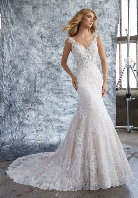 mori lee 8212 kristina v neck fit and flare bridal gown 01 286