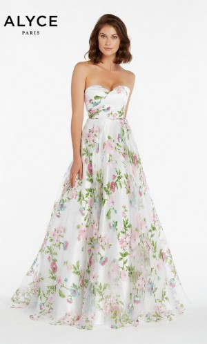 alyce paris 1440 floral print prom dress 01 581