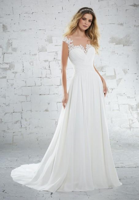 mori lee 6885 kamella cap sleeve destination wedding gown 01 287
