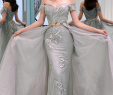 Formal Dresses for Wedding Party Best Of Gray evening Dress Off the Shoulder Sheath Appliques Sashes