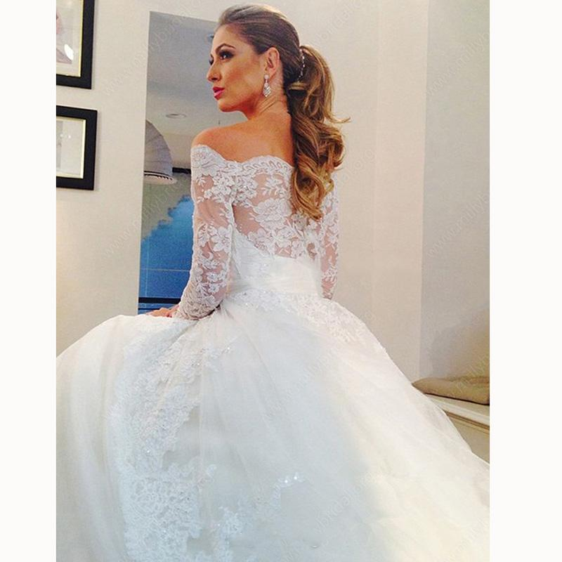 full figured wedding dress photo about fantastic lace wedding dress with long sleeves off the shoulder