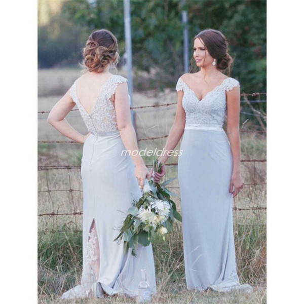 Garden Party Dresses Wedding Best Of Plus Size Mermaid Bridesmaid Dresses 2019 F Shoulder Backless Illusion Bodice Lace Garden Country Wedding Guest Gowns Maid Honor Dress Wedding