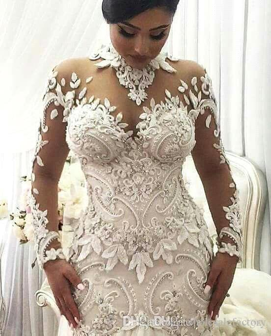 azzaria haute sheer long sleeves wedding