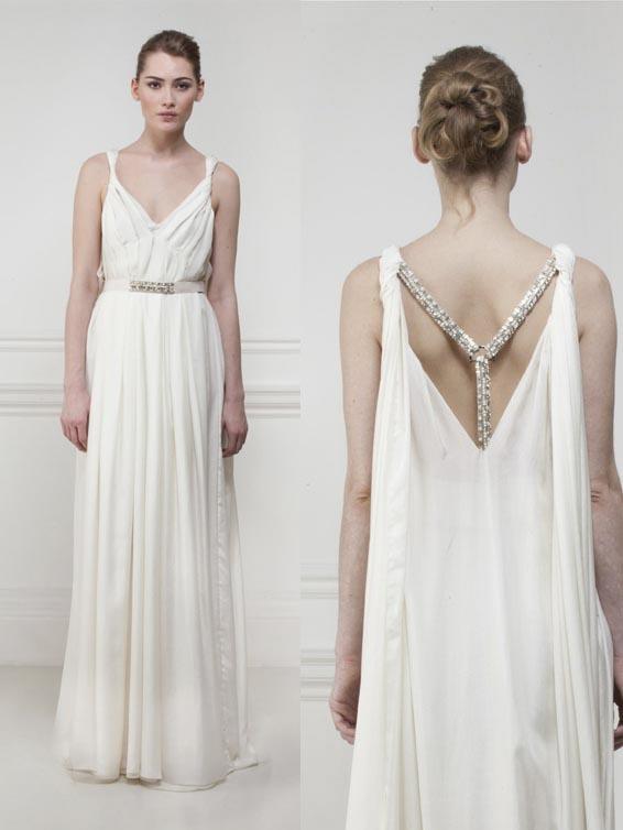 Greek goddess style wedding dresses 1