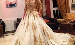 22 Elegant Gold Beaded Wedding Dress