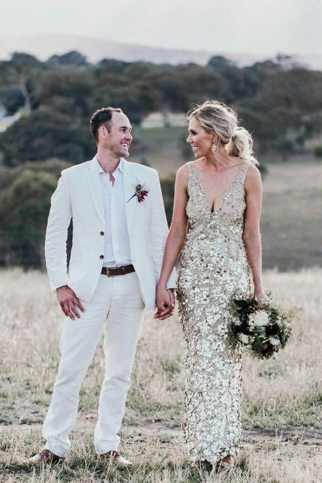 Gold Bridal Dresses Elegant Oglia Loro Gold Sequin Custom Made Wedding Dress Sale F