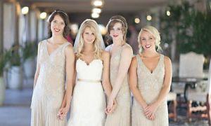 24 Lovely Gold Wedding Bridesmaid Dresses