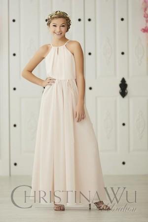 christina wu blouson style junior bridesmaid dress 01 665