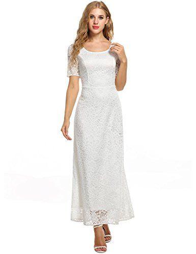 cheap maxi dresses for weddings inspirational angvns womens full lace solid short sleeve elegant wedding maxi