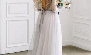 29 Elegant Grey Lace Wedding Dress