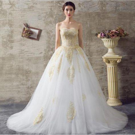 3a0defc b3ceb fb77a gold wedding dresses gold weddings
