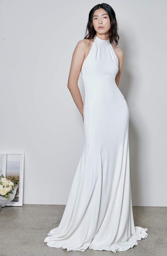Stella McCartney F18 Magnolia Halter Wedding Dress