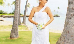 24 Elegant Hawaiian themed Wedding Dresses