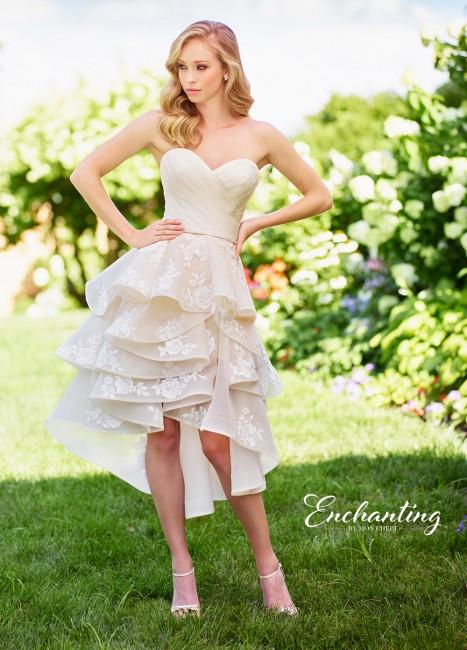 enchanting by mon cheri high low casual wedding dress 01 274